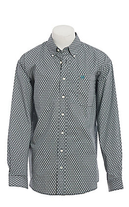 Cinch Men's Black Medallion Print Long Sleeve Western Shirt