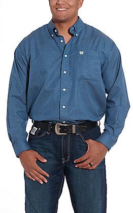 Cinch Men's Navy Print Long Sleeve Western Shirt