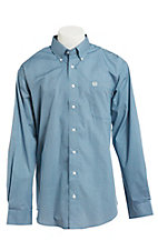 Cinch Men's Cavender's Exclusive Blue Diamond Print Long Sleeve Western Shirt