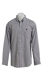 Cinch Men's Cavender's Exclusive Grey Diamond Print Long Sleeve Western Shirt