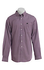Cinch Men's Cavender's Exclusive Purple Geo Square Print Long Sleeve Western Shirt