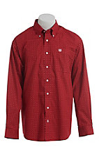 Cinch Men's Cavender's Exclusive Red Floral Print Long Sleeve Western Shirt
