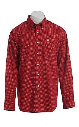 Cinch Men's Cavender's Exclusive Red Floral Print Long Sleeve Western Shirt