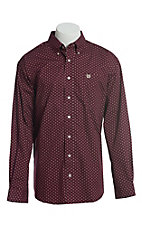 Cinch Men's Cavender's Exclusive Purple With Triangle Dot Geo Print Short Sleeve Button Down Western Shirt