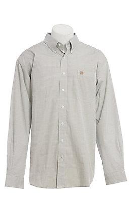 Cinch Men's Cream Geo Print Long Sleeve Western Shirt