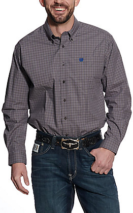 Cinch Men's Grey Plaid Long Sleeve Western Shirt