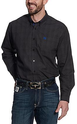 Cinch Men's Black Plaid Long Sleeve Western Shirt
