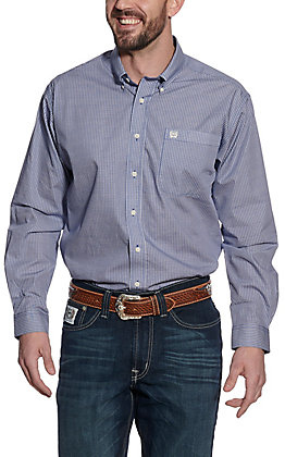 Cinch Men's Navy Geo Print Long Sleeve Western Shirt