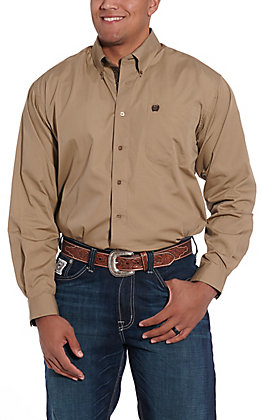 Cinch Men's Khaki Long Sleeve Western Shirt