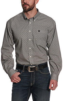 Cinch Men's Multi Black Geo Print Long Sleeve Western Shirt
