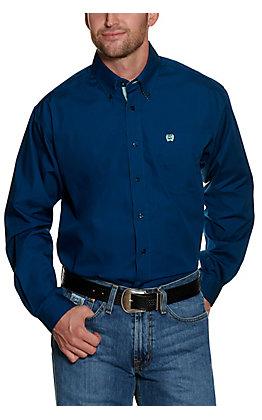Cinch Men's Navy Long Sleeve Western Shirt