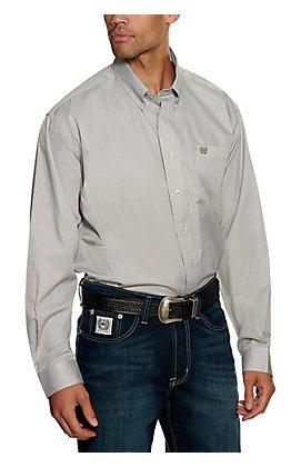 Cinch Men's Grey Stripe Long Sleeve Western Shirt