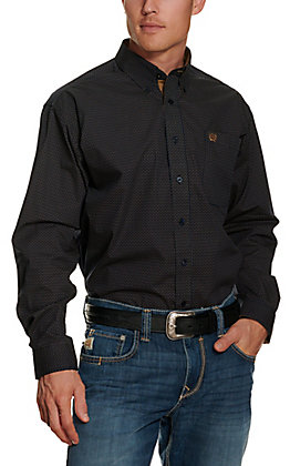 Cinch Men's Navy Geo Print Long Sleeve Western Shirt