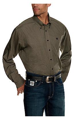 Cinch Men's Stone Geo Print Long Sleeve Western Shirt