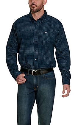 Cinch Men's Blue Geo Print Long Sleeve Western Shirt