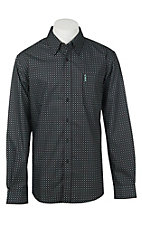 Cinch Men's Modern Black Diamond Print Long Sleeve Western Shirt