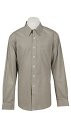 Cinch Modern Fit Men's Black and Cream Geo Print Long Sleeve Western Shirt