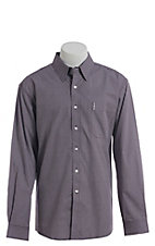 Cinch Men's Modern Purple Geo Square Print Western Long Sleeve Button Down Shirt