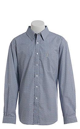 Cinch Men's Modern Blue Medallion Print Long Sleeve Western Button Down Shirt