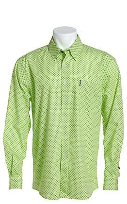 Cinch Men's Modern Fit Lime Geo Print Long Sleeve Western Shirt