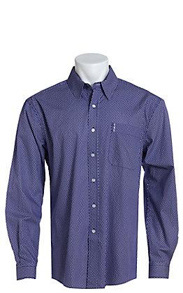 Cinch Men's Modern Fit Purple Geo Print Long Sleeve Western Shirt