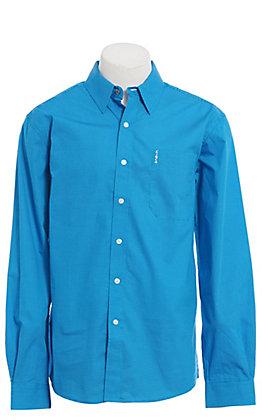 Cinch Modern Fit Men's Blue Geo Print Long Sleeve Western Shirt