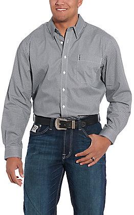 Cinch Men's Modern Navy Geo Print Long Sleeve Western Shirt