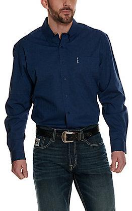 Cinch Men's Modern Fit Navy Stripes Long Sleeve Western Shirt
