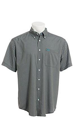 Cinch Men's ArenaFlex Brown Geo Print Short Sleeve Button Down Western Shirt