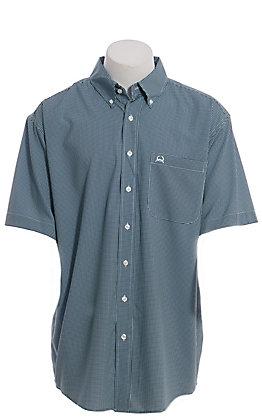 Cinch Men's ArenaFlex Navy Geo Print Short Sleeve Western Shirt