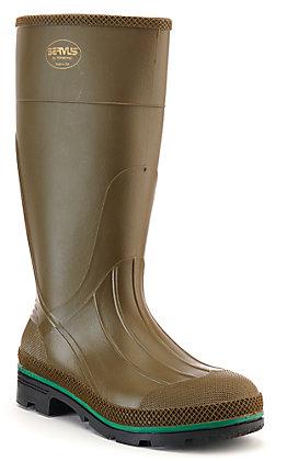 Muck Men's Servus Max Olive Waterproof Soft Toe Rubber Boots