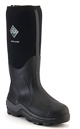 Muck Men's Artic Sport Black Insulated Waterproof Round Toe Rubber Boot