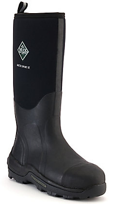 Muck Men's Artic Sport Black Insulated Waterproof Round Steel Toe Rubber Boot