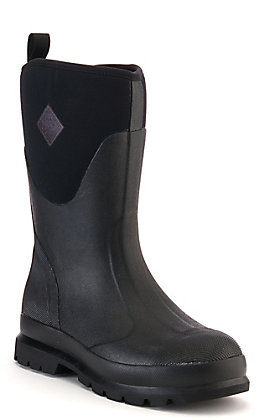 Muck Chore Classic Women's Black Mid Rise Waterproof Round Toe Rubber Boot