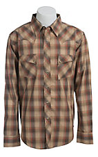Wrangler Mens LS Snap Western Shirt MV1353MX- Big & Tall Sizes