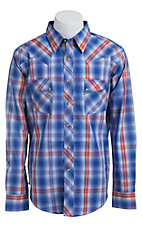 Wrangler Mens LS Snap Western Shirt MV1356MX- Big & Tall Sizes