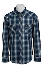 Wrangler Men's Blue Plaid Western Shirt