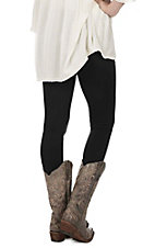One 5 One Women's Black  Fleece Lined Leggings