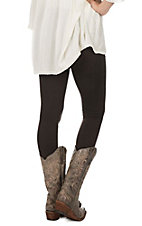 One 5 One Women's Brown Fleece Lined Leggings