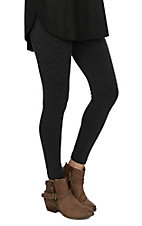 One 5 One Women's Heather Charcoal Fleece Leggings