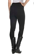 One 5 One Women's Black Ab Shaper Leggings