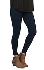 One 5 One Women's Storm Navy Textured Fleece Leggings