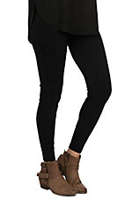 Women's Vertical Stitched Tripunto Black Leggings