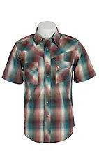 Wrangler Men's Vintage Rust Plaid Western Shirt MV3023M