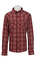 Wrangler Men's Easy Care Plaid L/S Western Shirt MVG100M