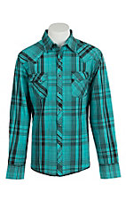 Wrangler Men's Easy Care Plaid L/S Western Shirt MVG103M