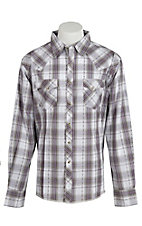 Wrangler Men's Easy Care Plaid L/S Western Shirt MVG104M