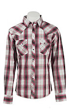 Wrangler Men's Easy Care Plaid L/S Western Shirt MVG115M