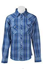 Wrangler Men's Easy Care Plaid L/S Western Shirt MVG116M