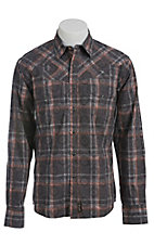 Wrangler Men's Retro Snap Plaid Western Shirt MVR185M